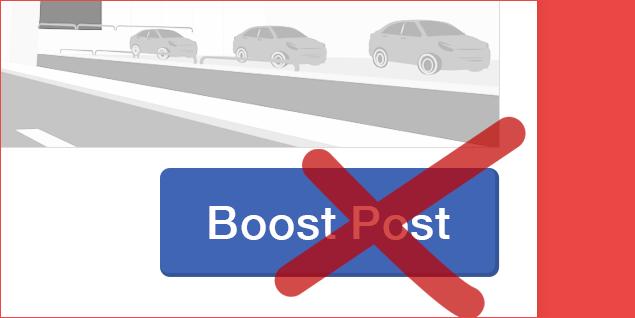 Do not Boost Facebook post